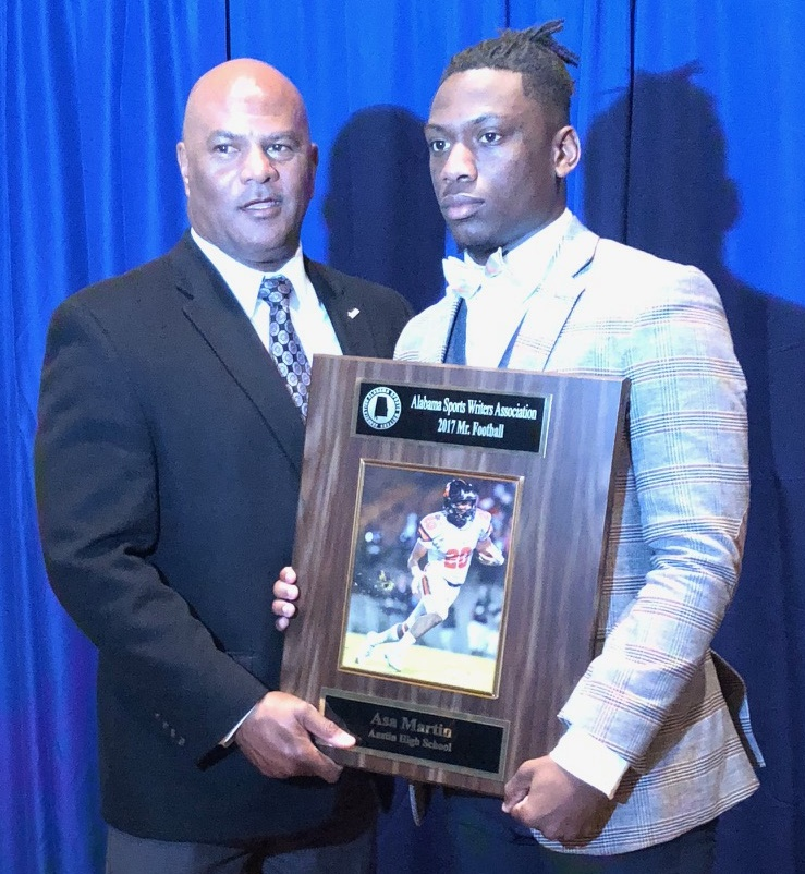 Austin's Asa Martin named 2017 Mr. Football by Alabama Sports Writers Association