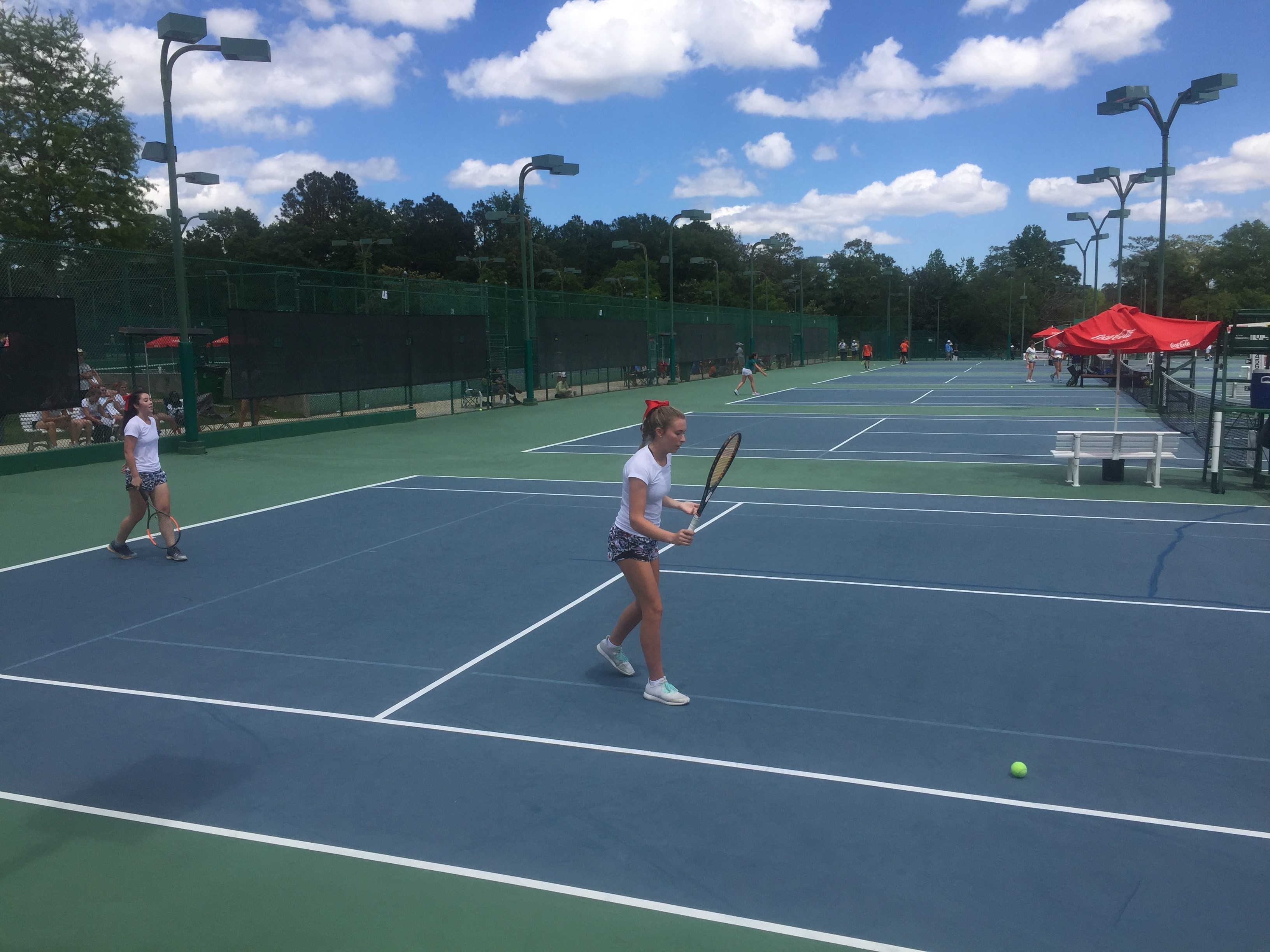FIRST-DAY STATE TENNIS RESULTS FROM MONDAY'S ACTION