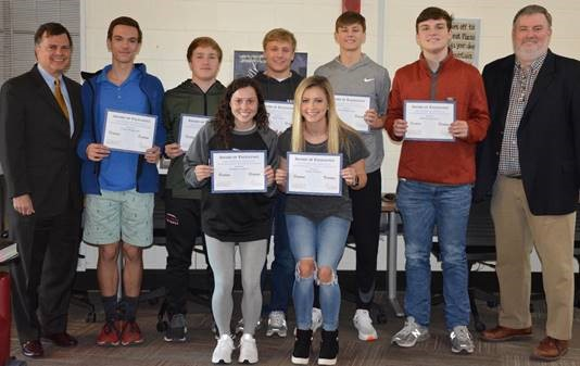 Seven Hartselle High School Student-Athletes Receive Awards for Sportsmanship, Character
