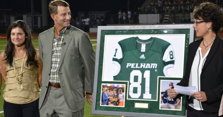 Pelham Favorite Son, Clemson Coach Dabo Swinney, Honored with Retirement of his Panthers' jersey