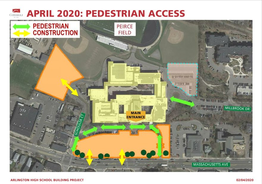April Construction site map