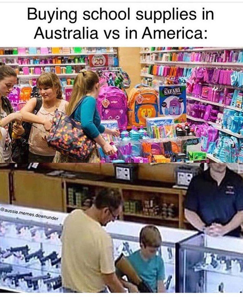School Supplies Meme : school, supplies, Buying, School, Supplies, Australia, America, Memes
