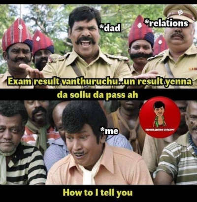 Dad And Relatives What Happened Your Exam Result Meme Tamil Memes