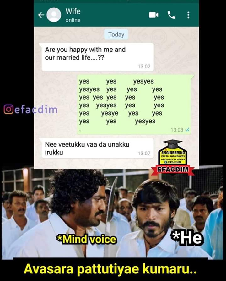 Husband And Wife Funny Pictures : husband, funny, pictures, Marriage, Husband, Memes, Funny, Tamil