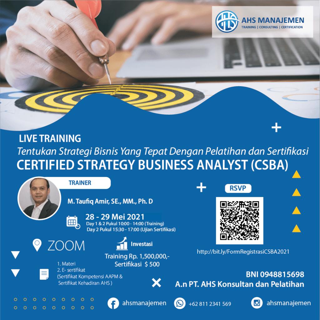 Certified Strategic Business Analyst-CSBA (28-29 Mei 2021)