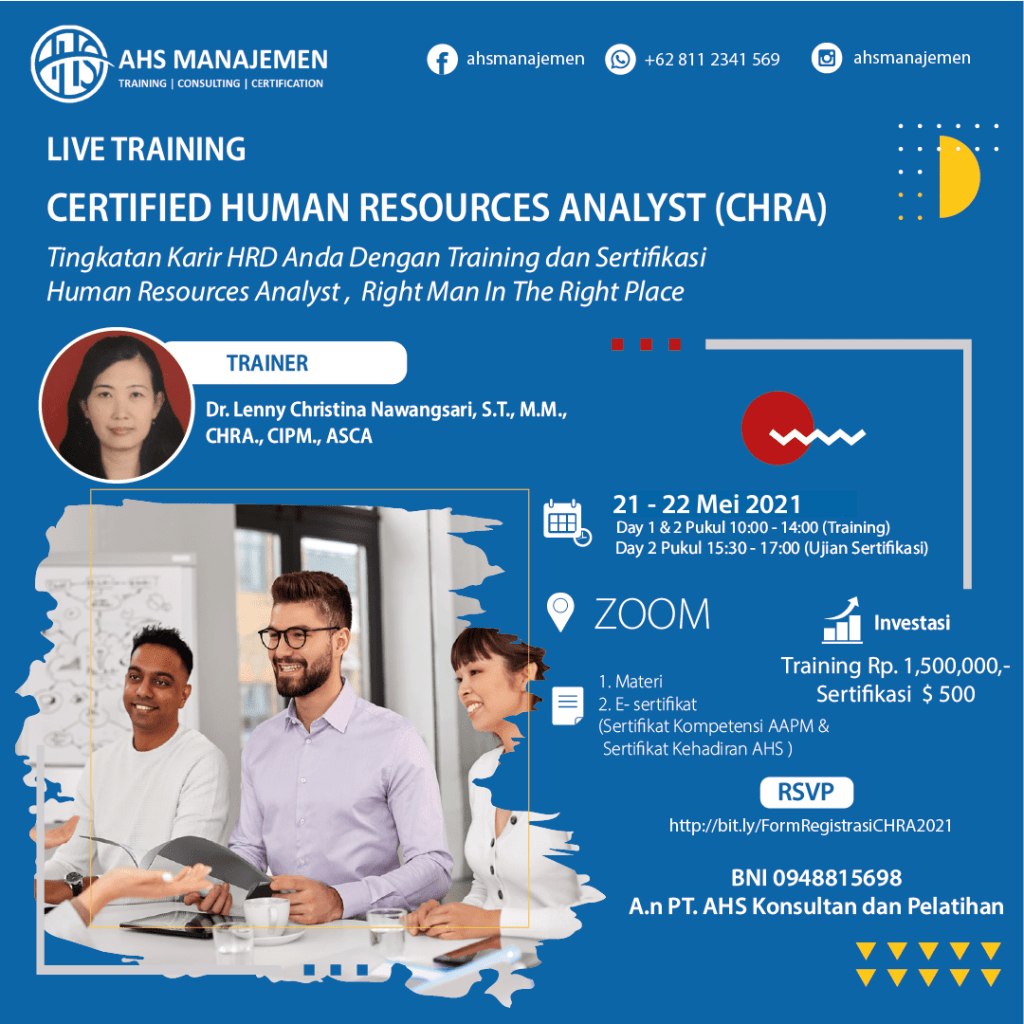 Certified Human Resources Analyst-CHRA (21-22 Mei 2021)