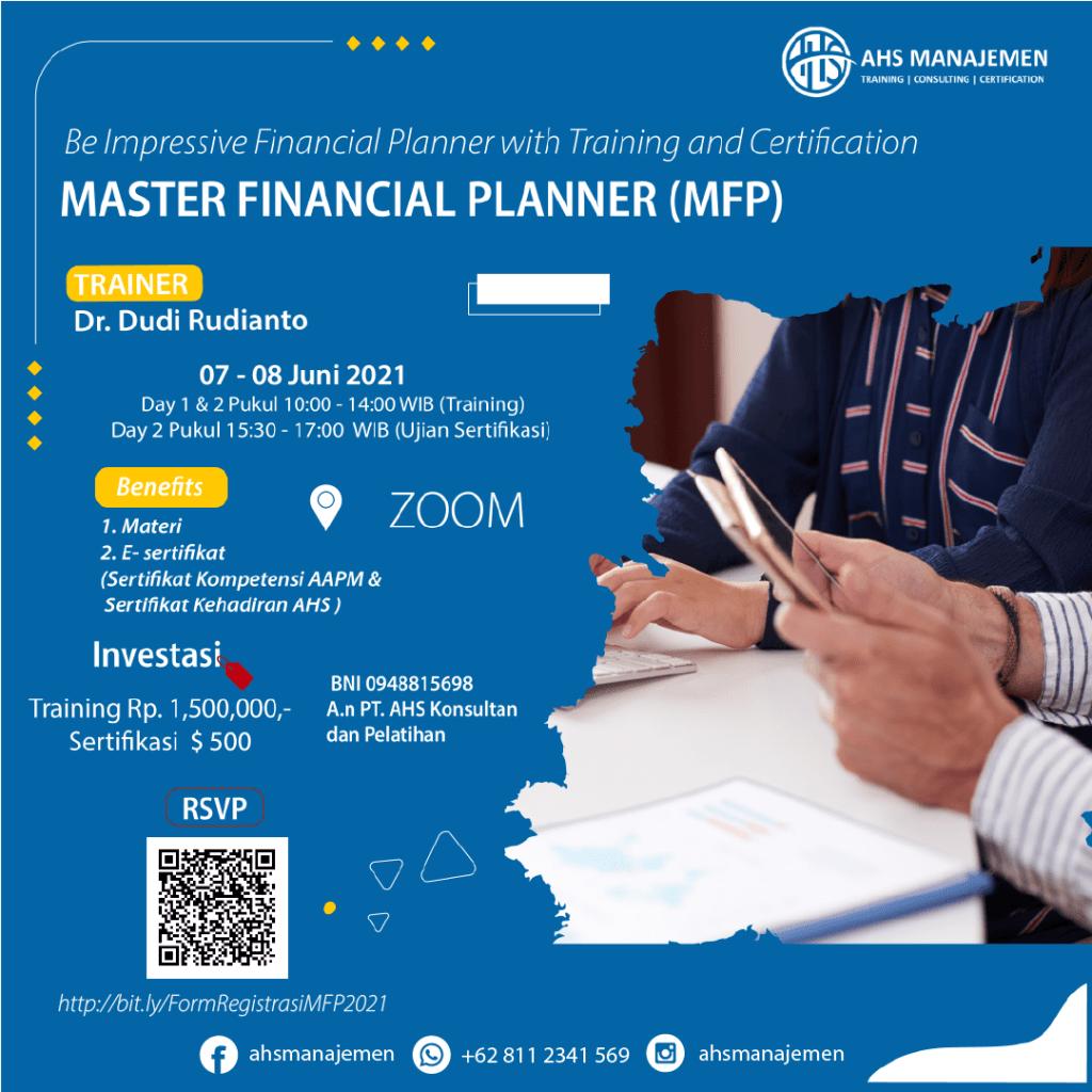 Master Financial Planner-MFP (07-08 Juni 2021)