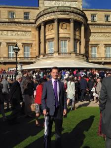 Simon at Buckingham Palace