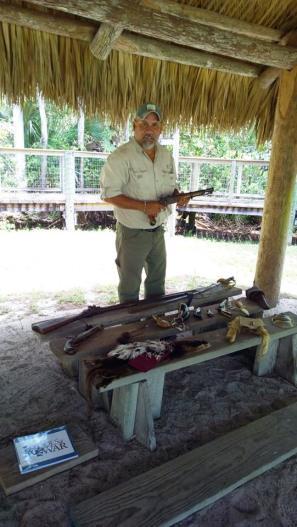 Rey Becerra's weapons display