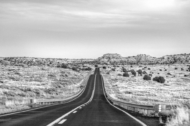 A road in Hopi country, in northeastern Arizona.