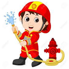 la micro creche en sortie a la caserne des pompiers