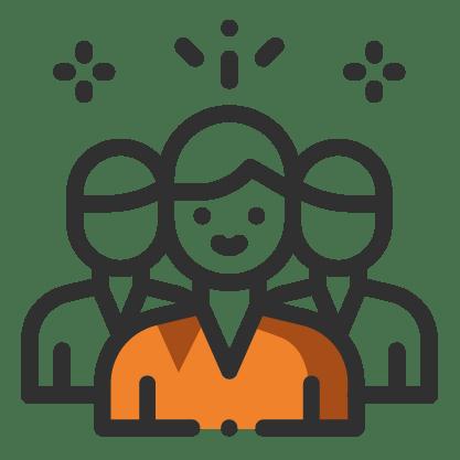 Pictogrammes des bénévoles de l'association