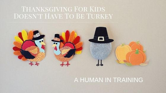 two turkeys, some pumpkins and a pilgrim for thanksgiving for kids