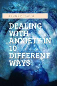 A person in distress, wondering how to best go about dealing with anxiety.