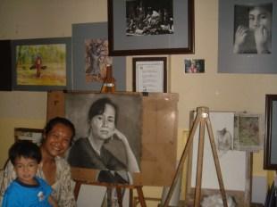 kennedy, le peintre chez lui