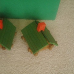 Mini log cabins.