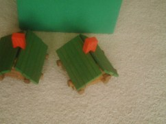 Mini log cabins.