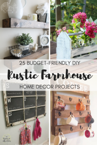 25 Budget-Friendly DIY Rustic Farmhouse Home Decor ...