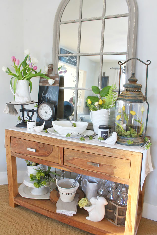 21 MustSee Rustic Farmhouse Spring Decor Ideas  A Hundred Affections
