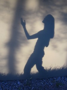 shadow of a woman