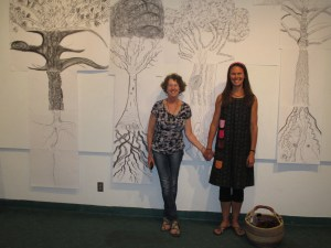 Rosemerry & Meredith conspire to create writing and visual art workshops.