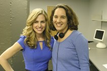 Me with Amy Kiser as Lesley Stiles, ambitious sports reporter
