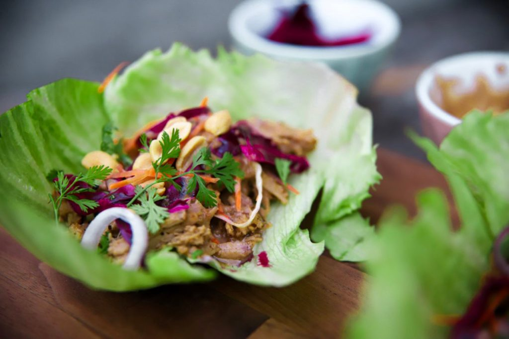 asian pork wrap