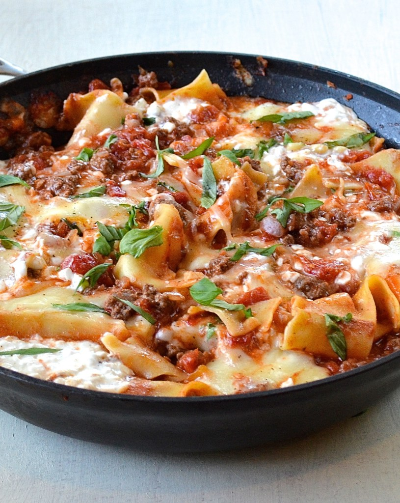 Healthy-and-easy-skillet-lasagna