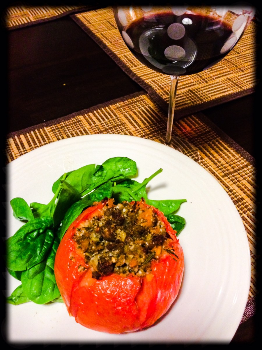 Sausage and Butternut Squash Stuffed Tomatoes