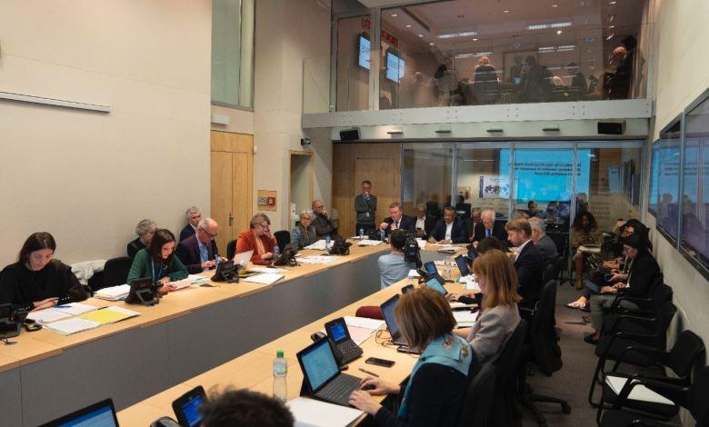 اجتماع منظمة الصحة العالمية لمناقشة تفشي فيروس ووهان التاجي. Photo Credit: WHO