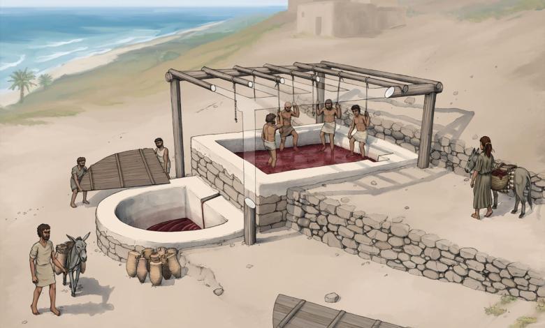 رسم إيضاحي من مشروع تل البراق الأثري بواسطة O.Bruderer Photo Credit: National Geographic