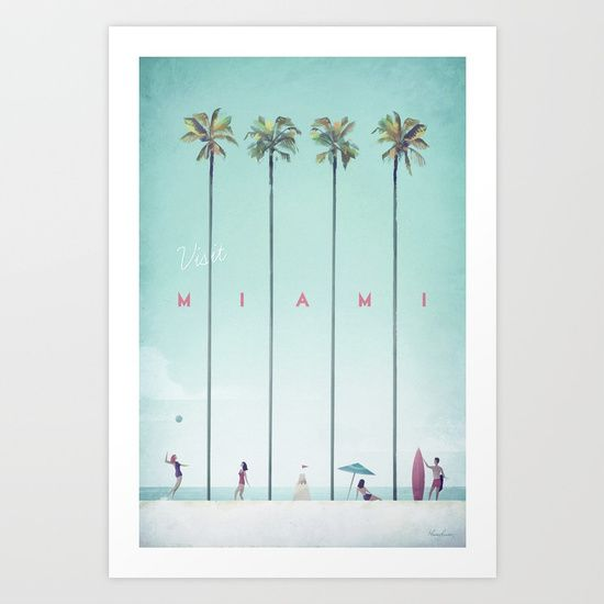 Miami by travel Poster Co