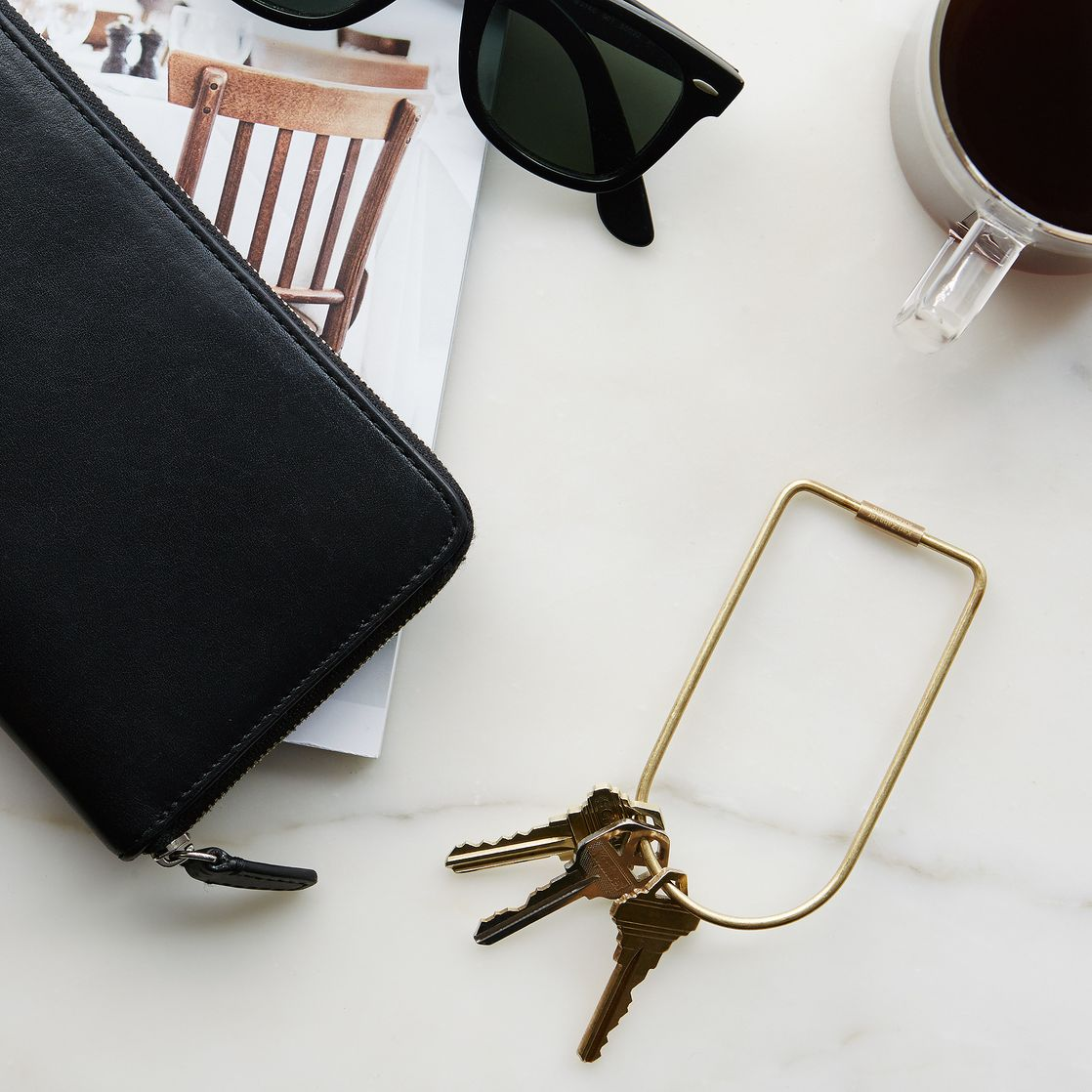 Contour Key Ring by Area ware