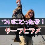静岡サーフ ヒラメ