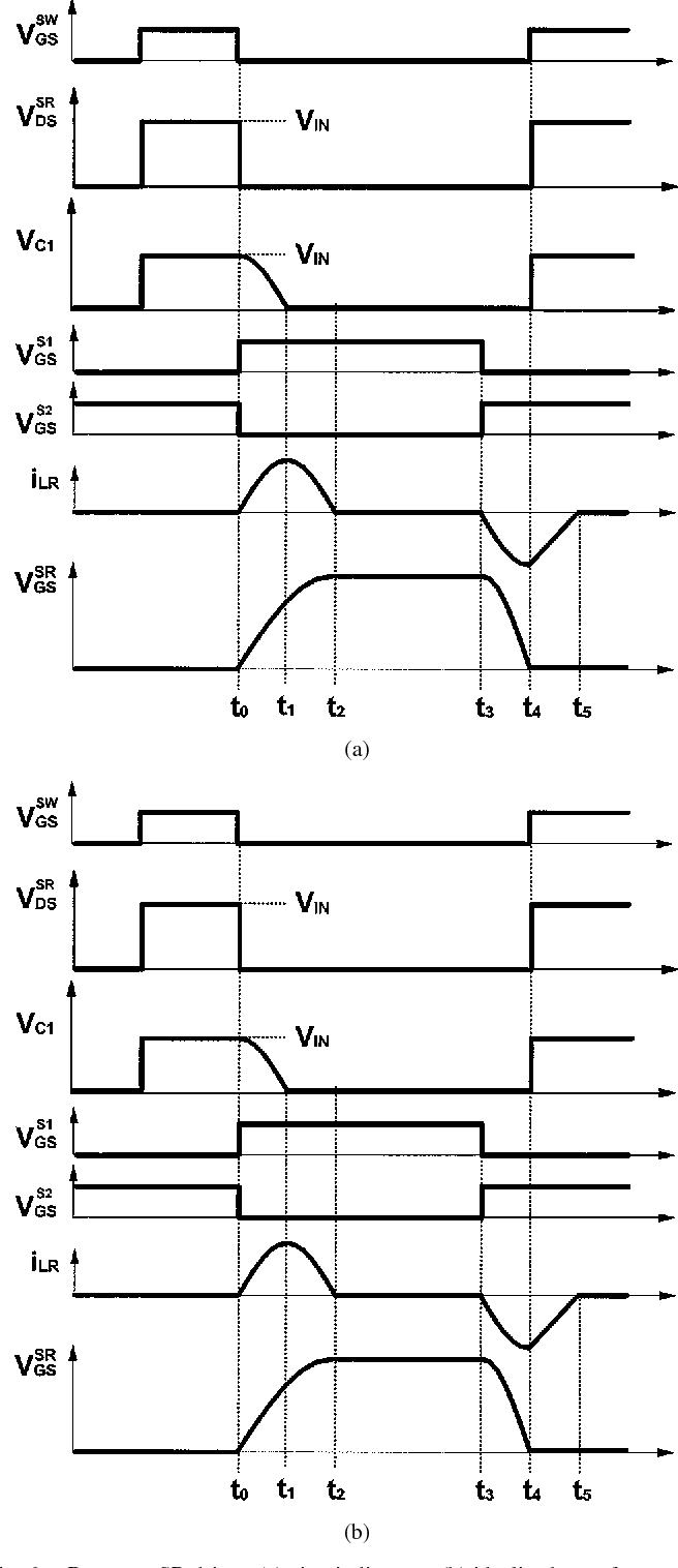 medium resolution of resonant sr driver a circuit diagram b