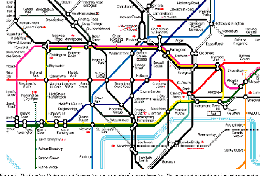medium resolution of the london underground schematic an example of a geoschematic the geographic