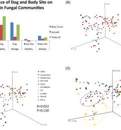 the influence of skin microenvironment body site and dog on fungal community [ 1340 x 998 Pixel ]