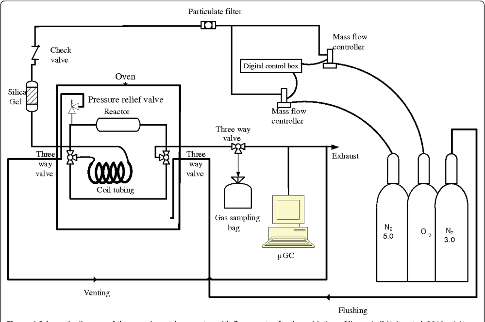 medium resolution of figure 6 schematic diagram of the experimental apparatus with flow reactor for the oxidation of linseed