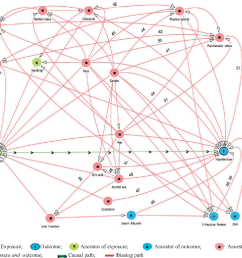 directed acyclic graph dag for the unconfounded effect of serum bilirubin [ 1082 x 1056 Pixel ]