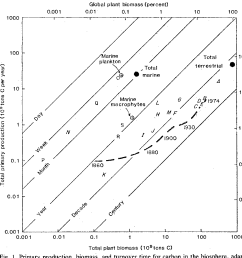 primary production biomass and turnover time for carbon in the [ 966 x 948 Pixel ]
