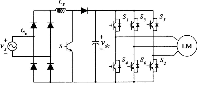 How to convert single phase to three phase circuit diagram