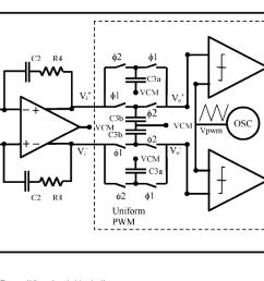 filterless second order upwm class d amplifier circuit block diagram [ 1402 x 650 Pixel ]