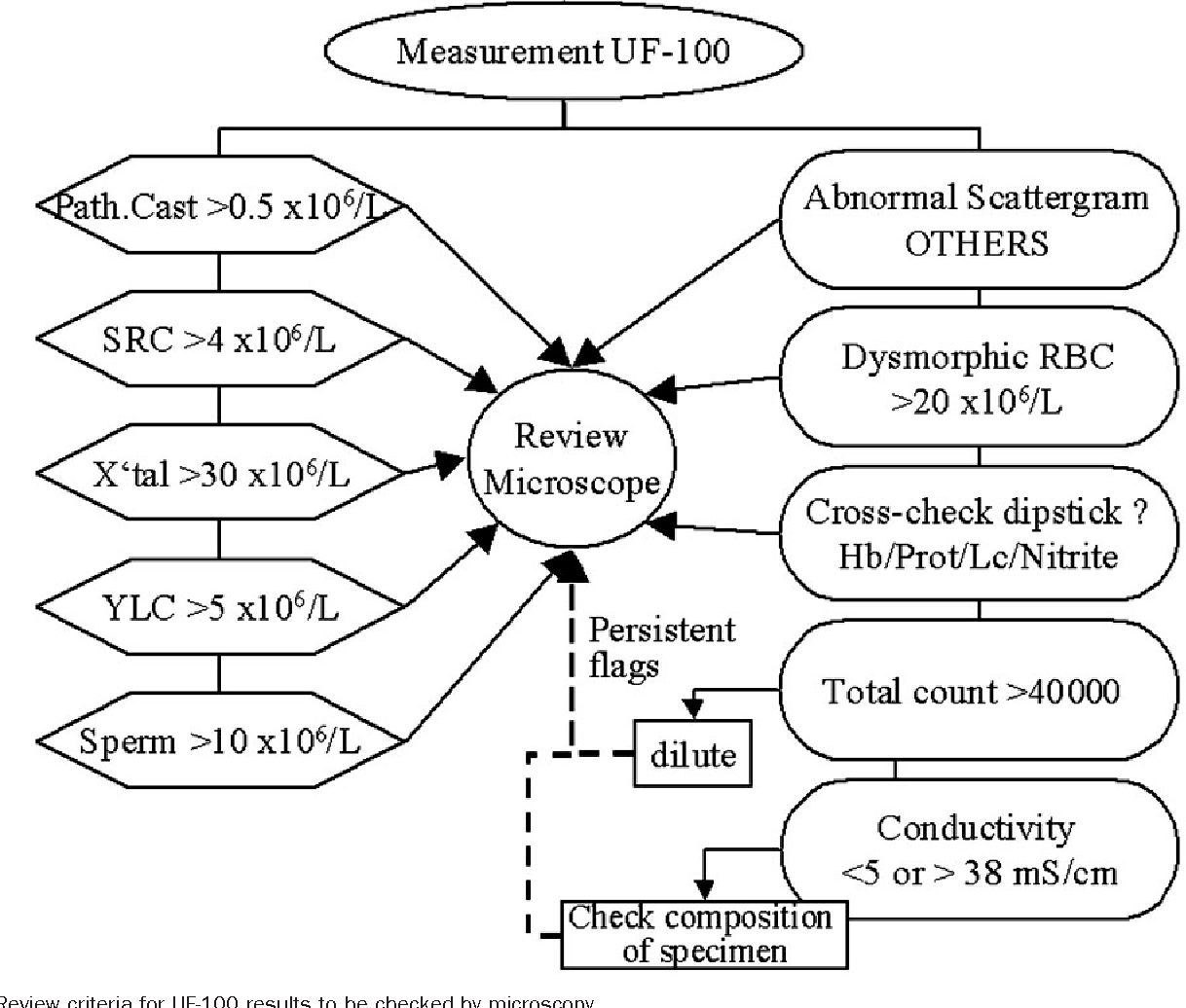 hight resolution of quantitative urine particle analysis integrative approach for the optimal combination of automation with uf 100 and microscopic review with kova cell