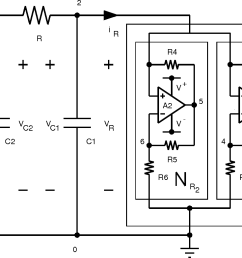 figure 10 realization of chua s circuit using two op amps and six linear resistors to [ 1076 x 784 Pixel ]