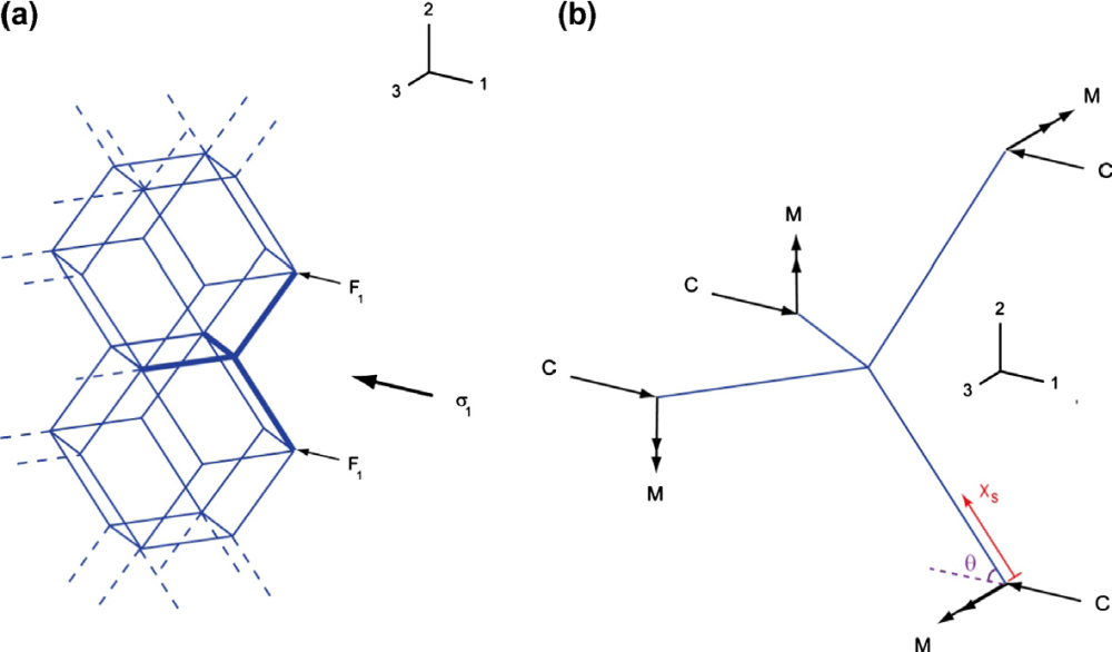 medium resolution of  a schematic of a tessellated rhombic dodecahedron cellular structure under