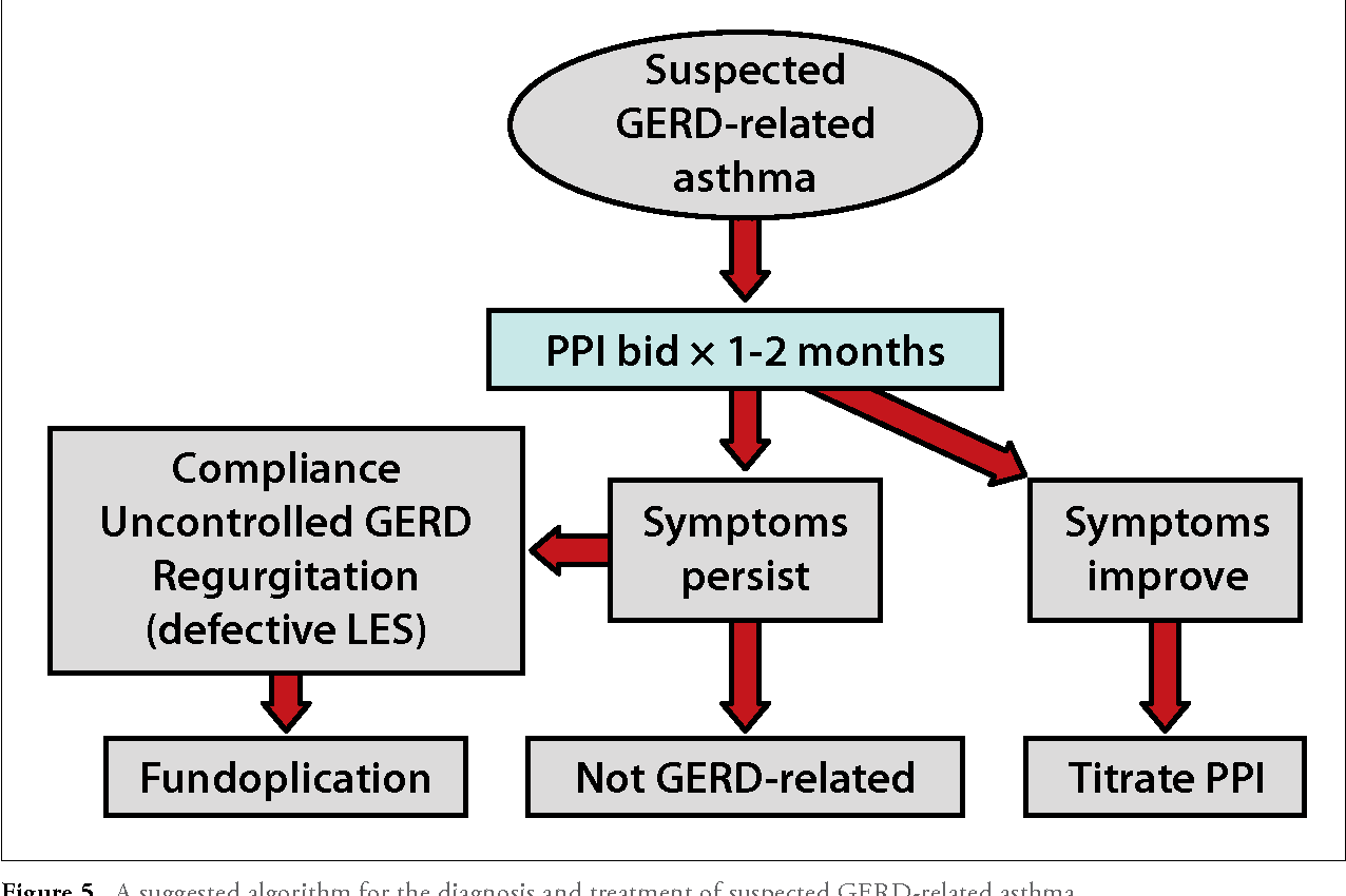 hight resolution of a suggested algorithm for the diagnosis and treatment of suspected gerd related