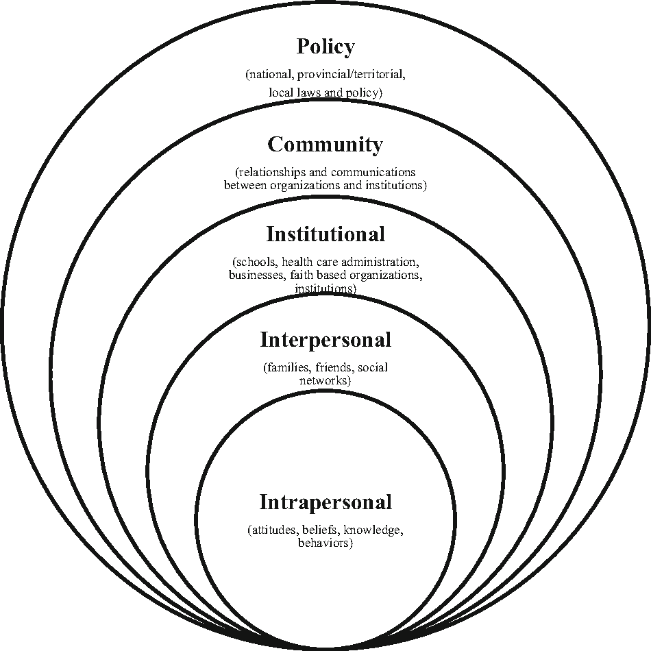 Figure 1 from The Socio-Ecological Model Approach to