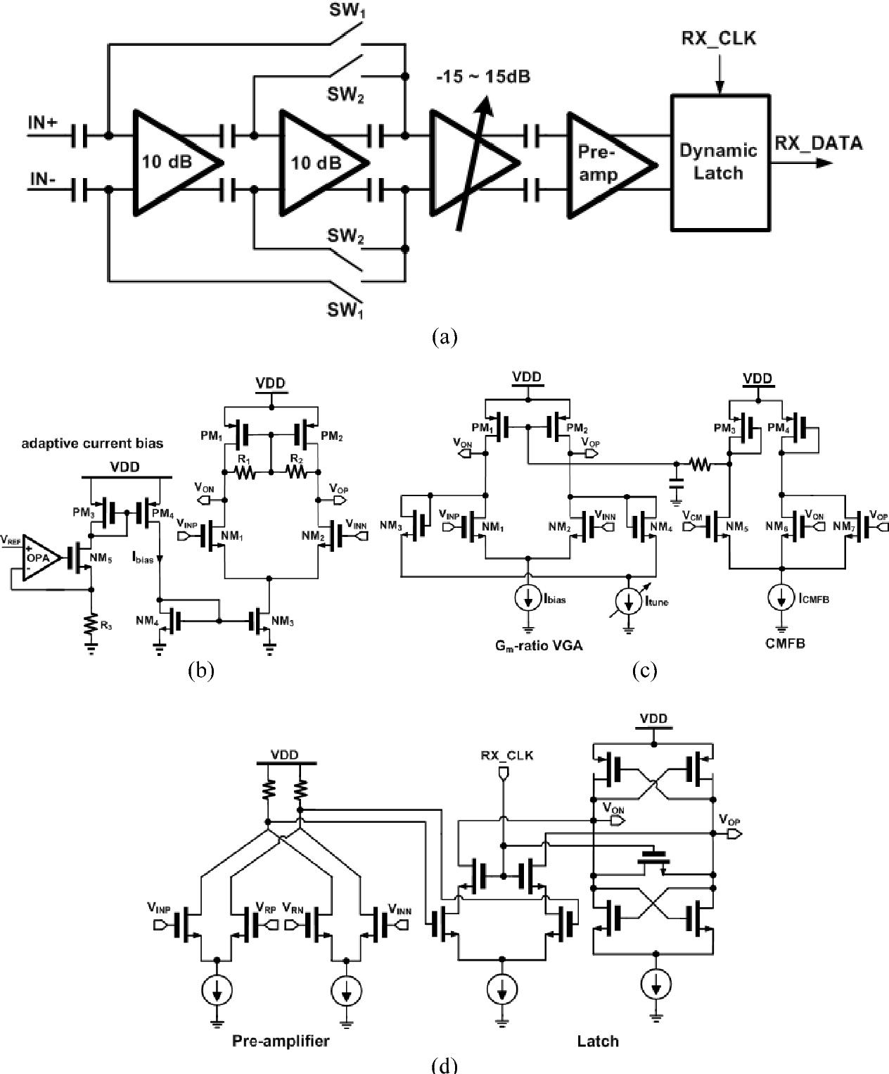 hight resolution of figure 7 a analog baseband chain block diagram b schematic