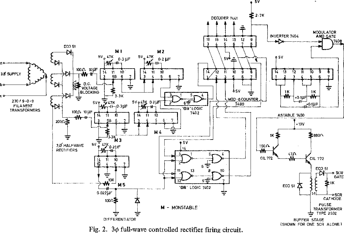 Figure 2 from Firing Circuit for Three-Phase Thyristor