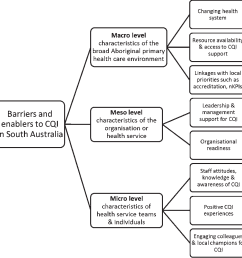 summary of practitioner perceived barriers and enablers to continuous quality improvement [ 982 x 1002 Pixel ]